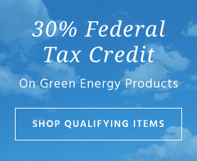 30% federal tax credit on green energy products